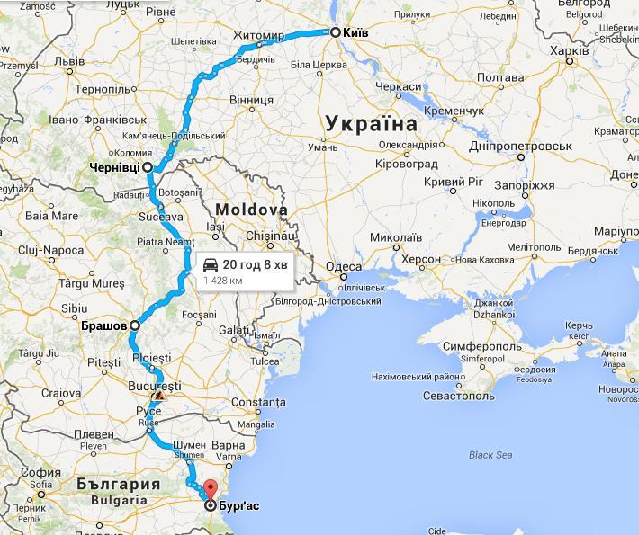 маршрут україна болгарія на машині в болгарію фото 1