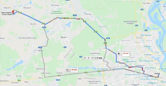 Маєток-Остен-Сакенів Мироцьке мапа -3
