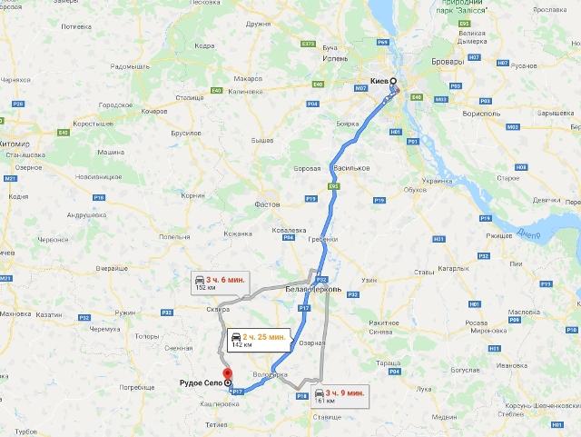 палац Залеського-Браницьких Руде село мапа-
