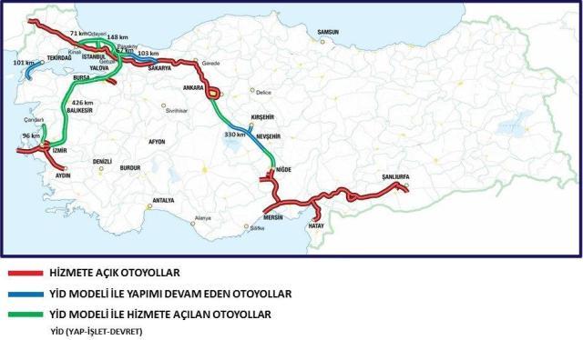 платні дороги туреччини карта 1