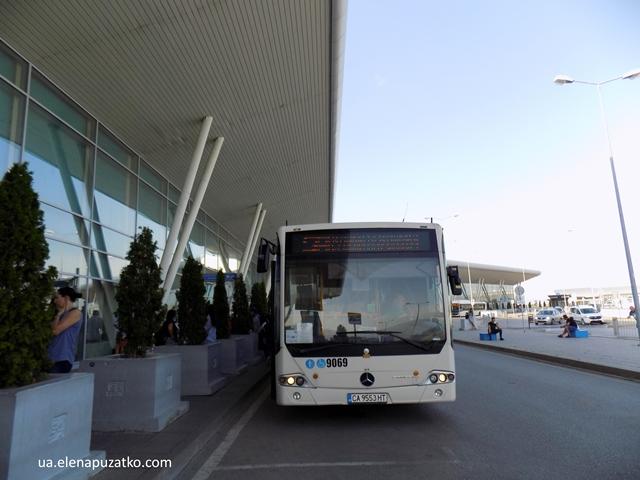 аеропорт софії автобус в місто
